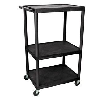Offex OF-LP54-B Black 3-shelf A/V Cart