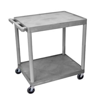 Offex OF-HE38-G Foam Plastic 2-shelf Structural Utility Cart