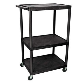 Offex Endura Black Plastic 54-inch 3-shelf A/V Cart