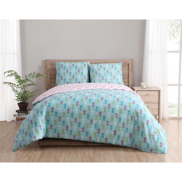 Clairebella Tropical Reversible 3-piece Duvet Set