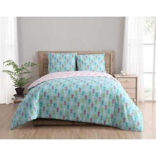 Clairebella Tropical Reversible 100% Cotton 3-piece Duvet Set