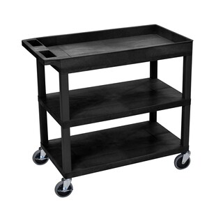 Offex 32 x 18 High-capacity 2-flat- and 1-tub-shelf Cart