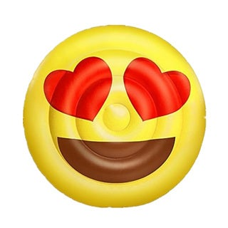 BH Inflatables: Giant Emoji Love Heart Eyes Inflatable Pool Float Raft, 5 Feet