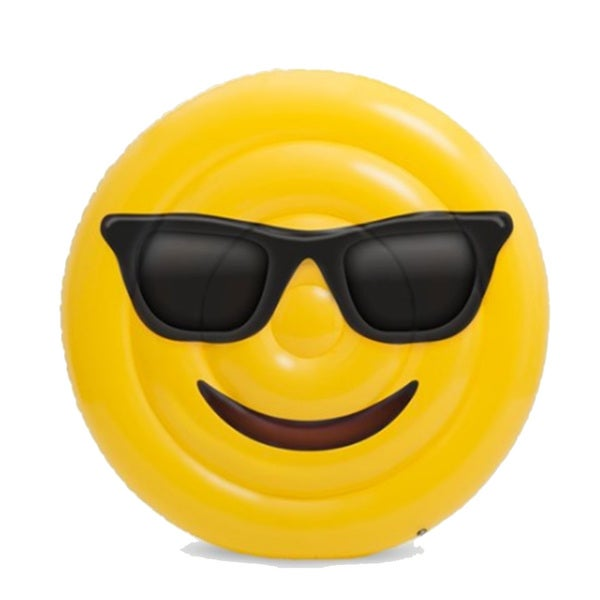 BH Inflatables: Giant Emoji Cool Sunglasses Inflatable Pool Float Raft, 5 Feet