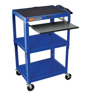 Offex Steel Pullout Tray Adjustable Height Audio/Visual Cart
