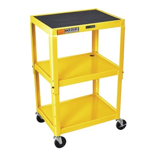 Offex OF-AVJ42-YW Steel Adjustable-height 3-shelf A/V Cart