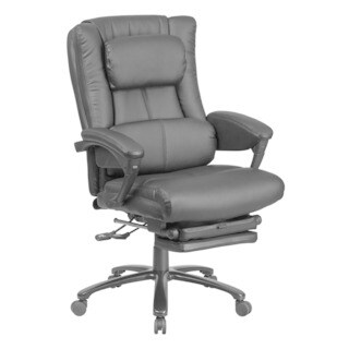 Offex High Back Black Leather Executive Reclining Swivel Office Chair with Lumbar Support and Padded Armrests