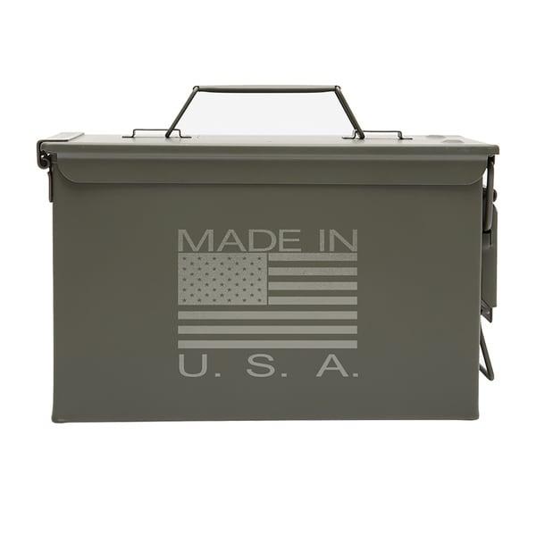 Army Force Gear Metal Ammo Can 50 cal Ammo or Fishing Gear Storage Box