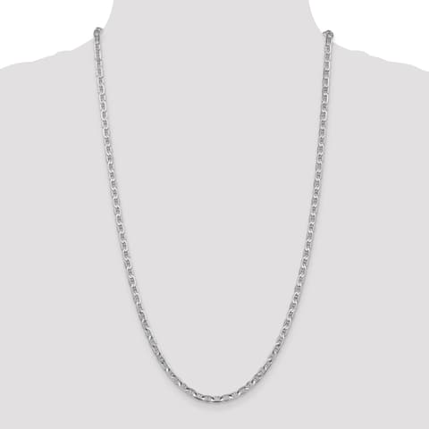 14K White Gold Polished 3.75mm Concave Anchor Chain by Versil