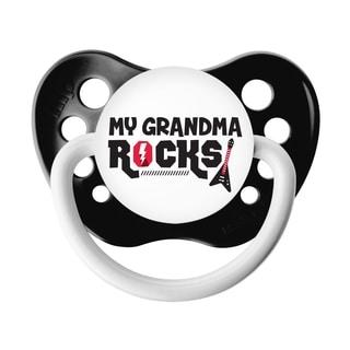Ulubulu My Grandma Rocks Black Classic Expression Pacifier 0-6 Months