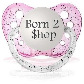 Ulubulu Born 2 Shop Glitter Purple Classic Expression Pacifier 0-6 Months