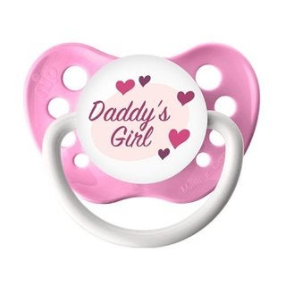Ulubulu Daddy's Girl Pink Classic Expression Pacifier 0-6 Months