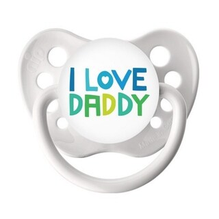 Ulubulu I Love Daddy White Classic Expression Pacifier 0-6 Months