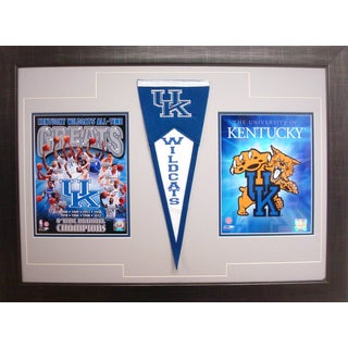 Kentucky Wildcats 18-inch x 30-inch Two-photo Pennant Frame