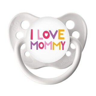 Ulubulu I Love Mommy White Classic Expression Pacifier 6-18 Months
