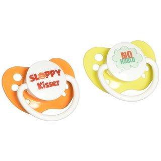 Ulubulu No Hablo / Sloppy Kisser Expression Pacifier 0-6 Months (2 Pack)