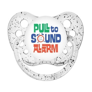 Ulubulu Pull To Sound Alarm White Glitter Classic Expression Pacifier 0-6 Months