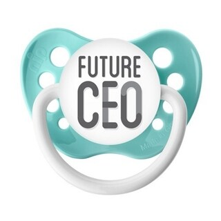 Ulubulu Future CEO Blue Classic Expression Pacifier 6-18