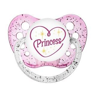Ulubulu Princess Glitter Pink Classic Expression Pacifier 6-18 Months