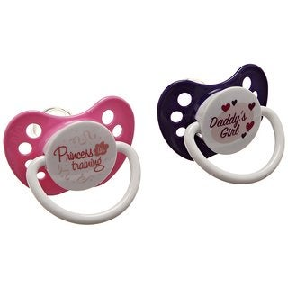 Ulubulu Princess / Daddy's Girl Expression Pacifier 6-18 Months (2 Pack)