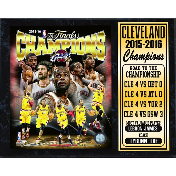 2016 NBA Champions Cleveland Cavaliers 12-inch x 15-inch Stat Plaque
