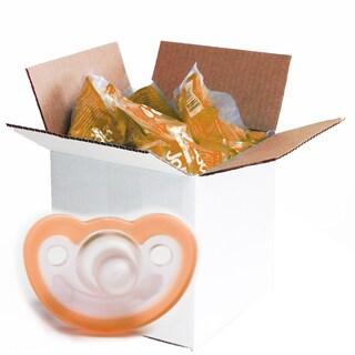 JollyPop Orange Unscented Silicone Pacifier 0-3 Months