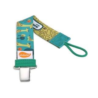 Ulubulu Green Giraffe Universal Pacifier Clip