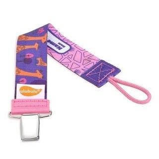Ulubulu Purple Giraffe Universal Pacifier Clip