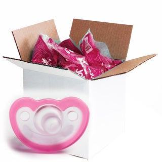JollyPop Pink Vanilla Scented Silicone Pacifier 0-3 Months