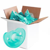 JollyPop Solid Teal Unscented Silicone Pacifier 3 Months and Up