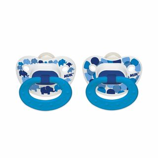 NUK Blue Bubbles and Elephants 6-18 Months Orthodontic Pacifier (2 Pack)