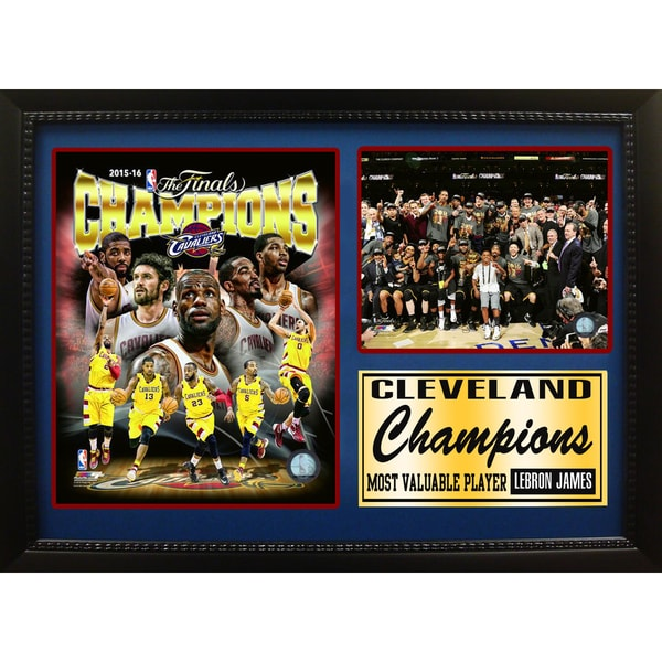 '2016 NBA Champions Cleveland Cavaliers' 12-inch x 18-inch Photo Stat Frame
