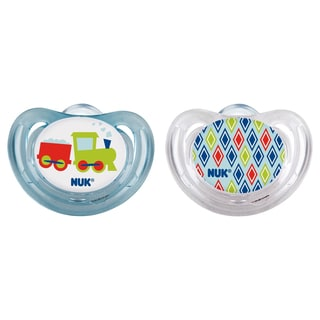 NUK Trains Airflow Orthodontic Pacifier 6-18 Months (2 Pack)
