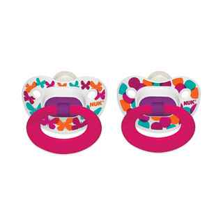 NUK Butterflies Confetti Orthodontic Pacifier 18-36 Months (2 Pack)