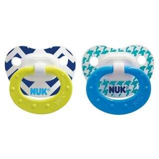 NUK Boy Core Orthodontic Pacifier 6-18 Months (2 Pack)