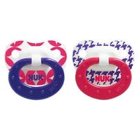 NUK Girl Core Orthodontic Pacifier 6-18 Months (2 Pack)