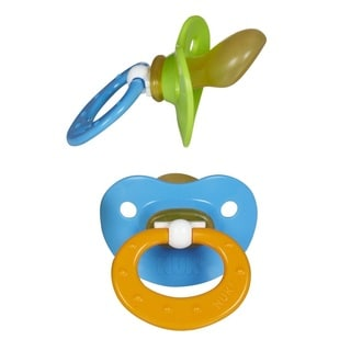 NUK Blue/Green Orthodontic Latex Pacifiers 0-6 Months (2 Pack)