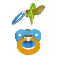 NUKBlue/Green Orthodontic Latex Pacifiers 6-18 Months (2 Pack)