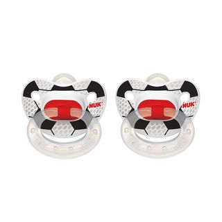 NUK Soccer Sports 0-6 Months Orthodontic Pacifier (2 Pack)