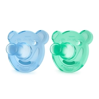 Philips Avent Blue & Green Bear Shaped Soothie Pacifier 0-3 Months (2 Count)