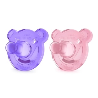 Philips Avent Pink & Purple Bear Shaped Soothie Pacifier 0-3 Months (2 Count)
