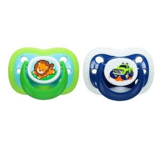 Playtex Lion/Truck Silicone Binky Pacifier 6+ Months (2 Count)