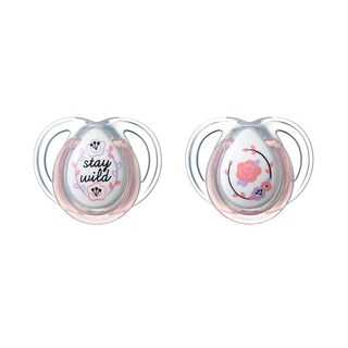 Tommee Tippee Wild/Flower Everyday Pacifier 0-6 Months (2 Pack)