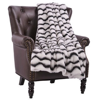 BOON Irene Faux Fur Throw with Sherpa Backing