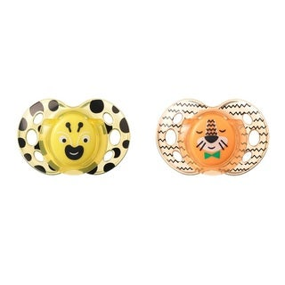 Tommee Tippee Bee/Tiger Fun Style Pacifier 6-18 Months (2 Count)
