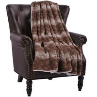 BOON Bella Faux Fur Throw with Sherpa Backing