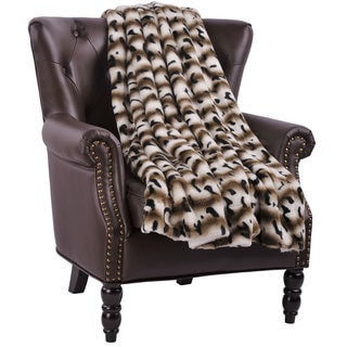 BOON Amara Faux Fur Throw with Sherpa Backing