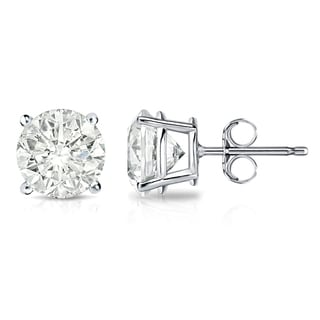 Auriya 18k Gold 2ct TDW 4-Prong Push-Back Clarity-Enhanced Diamond Stud Earrings (J-K, I2-I3)