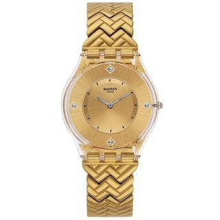 Swatch Women's SFE106G 'Golden Street' Gold-Tone Stainless Steel Watch