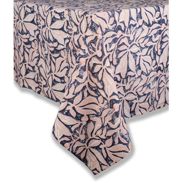 Caravan Calypso Orange And Grey Cotton Tablecloth